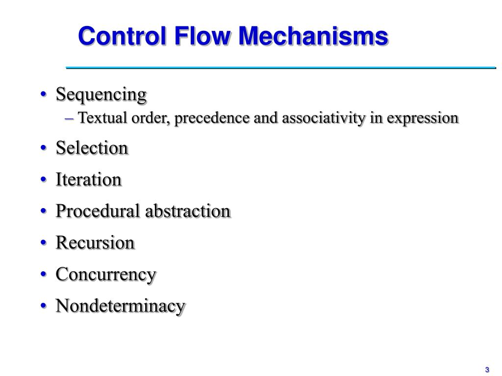 Control Flow Mechanisms