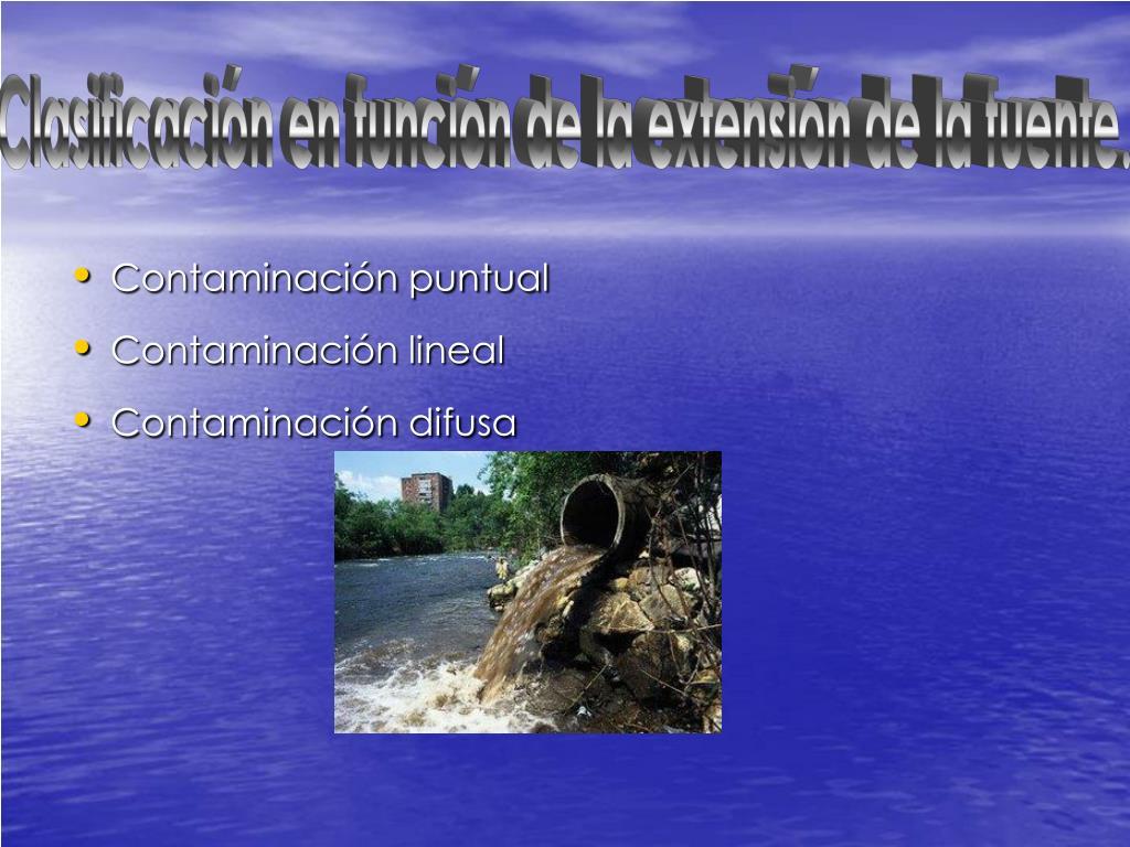 Clasificación en función de la extensión de la fuente.