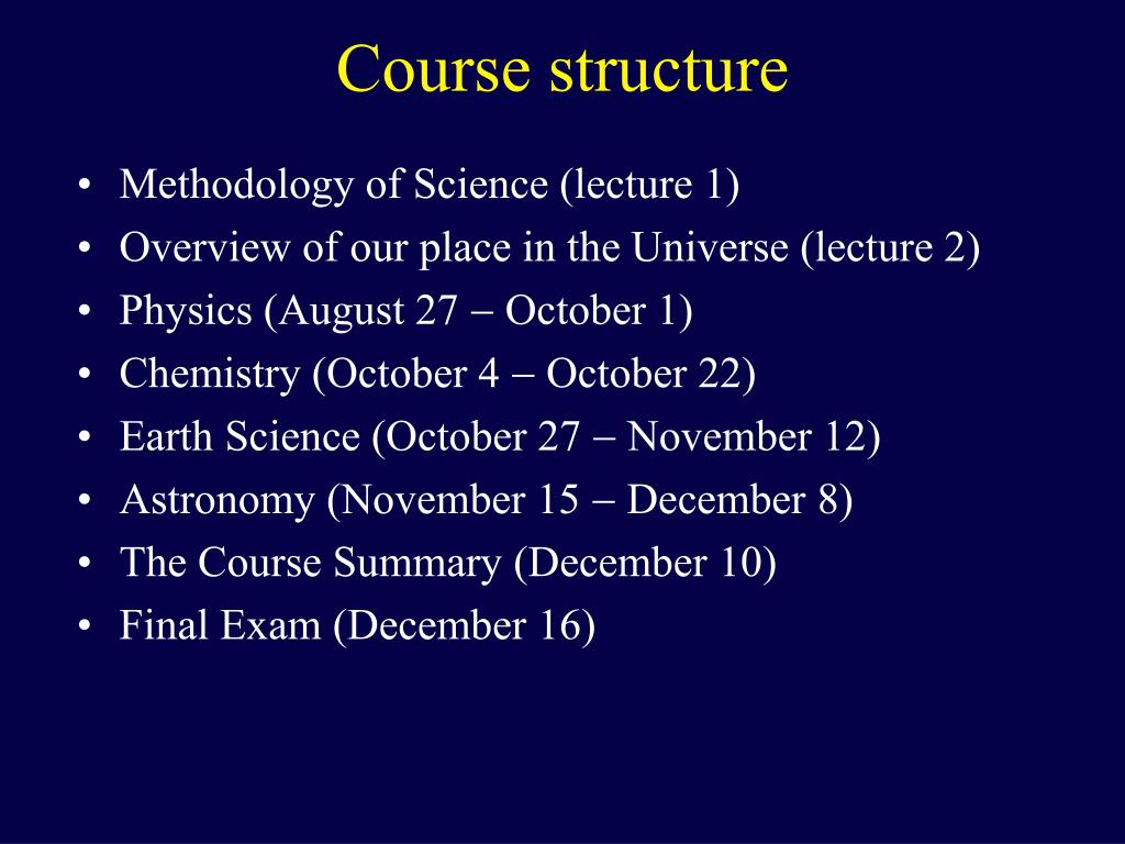 Methodology of Science (lecture 1)