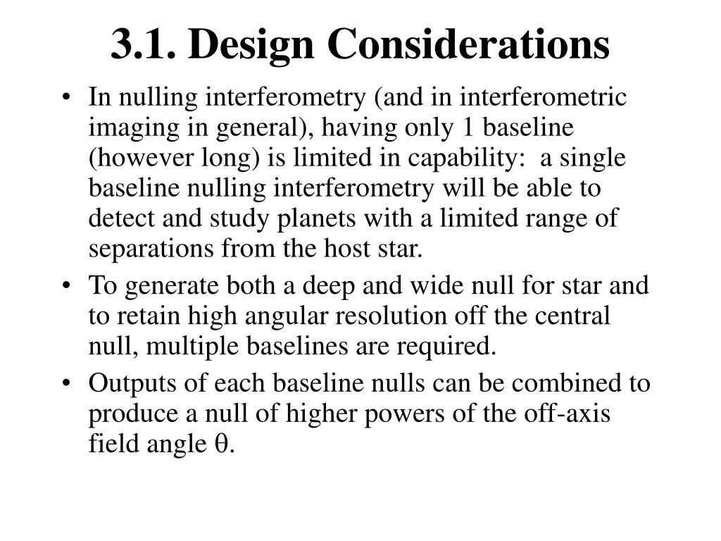 3.1. Design Considerations