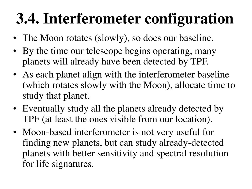 3.4. Interferometer configuration