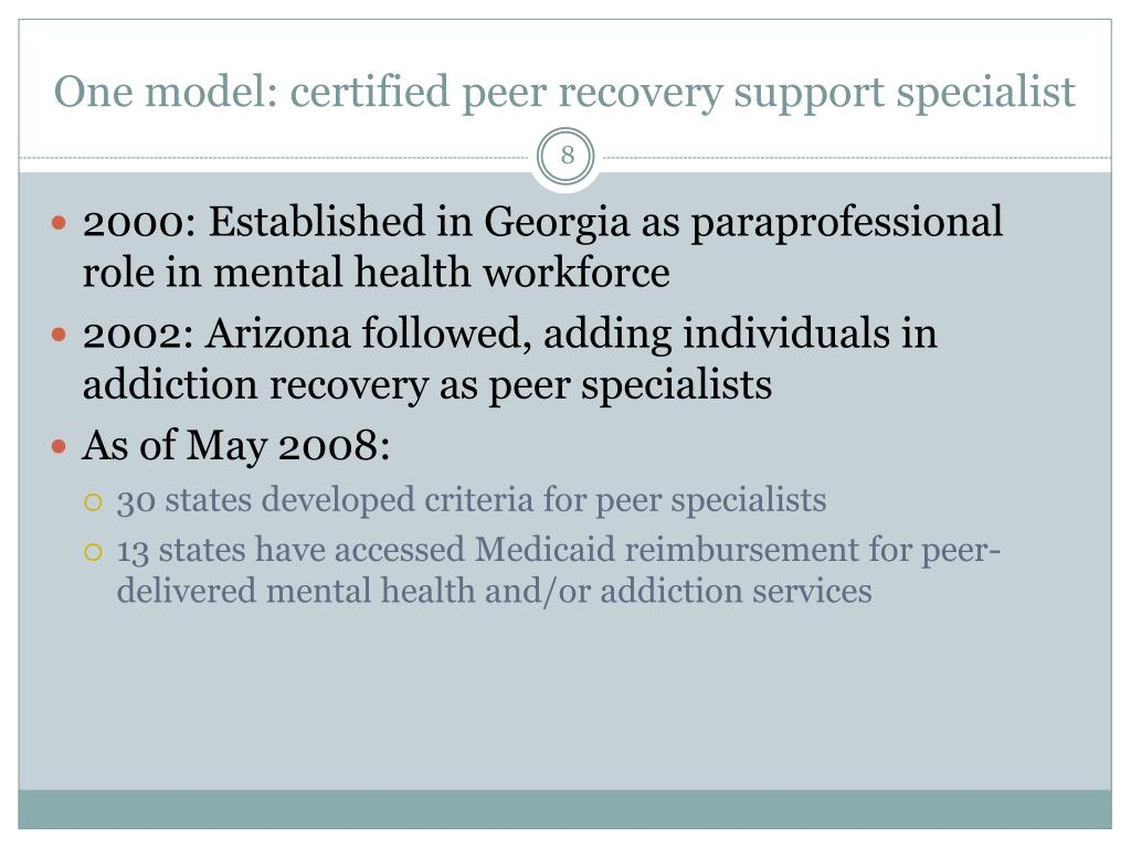 ppt recovery coaches delivery of peer recovery support
