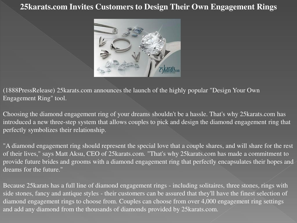 25karats.com Invites Customers to Design Their Own Engagement Rings