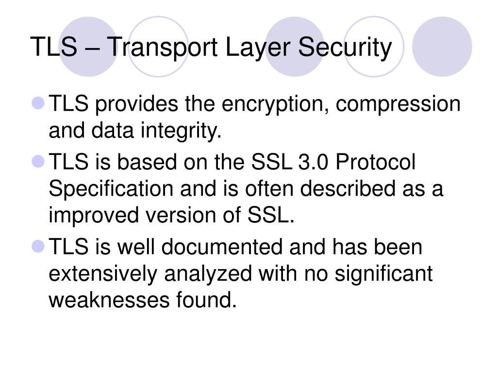 TLS – Transport Layer Security