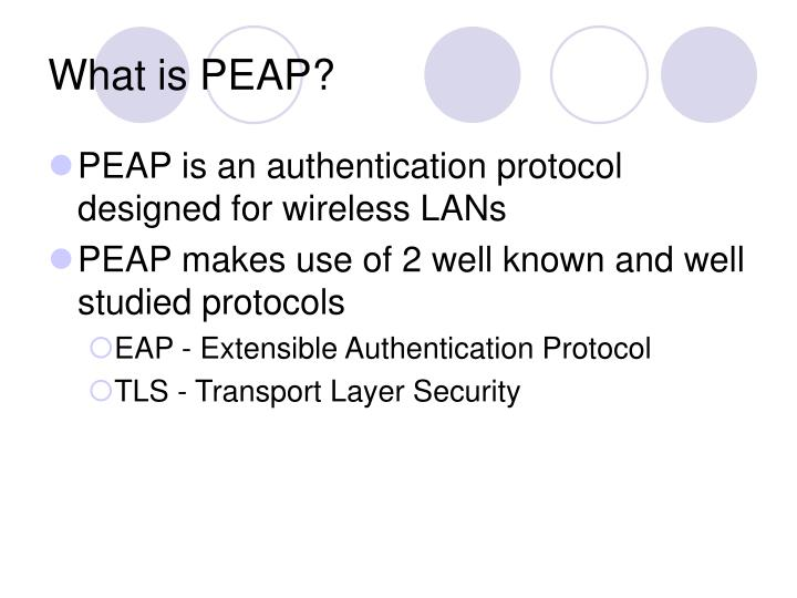 What is peap