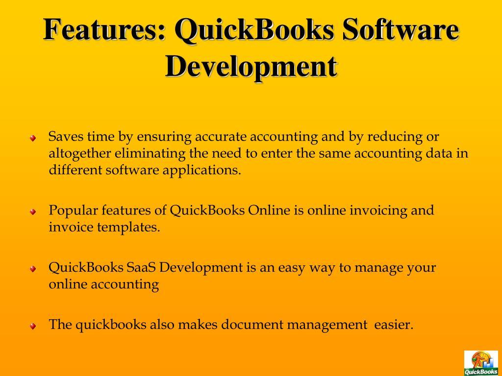 Features: QuickBooks Software Development