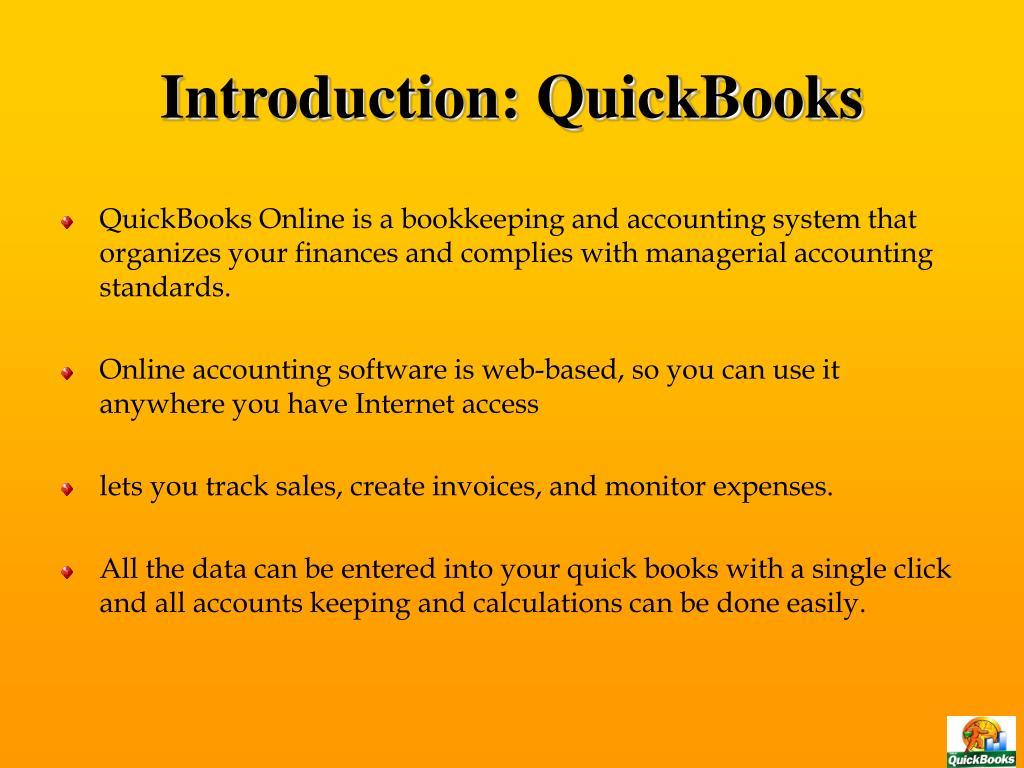 Introduction: QuickBooks