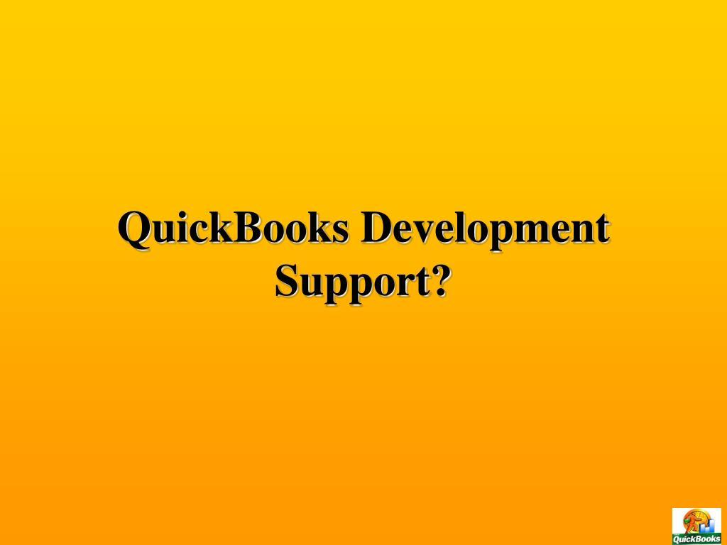QuickBooks Development Support?