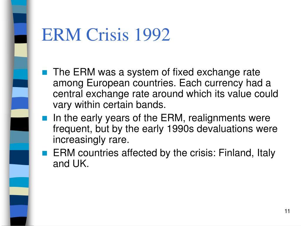 ERM Crisis 1992