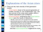 explanations of the asian crises