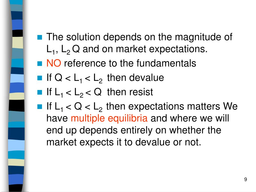 The solution depends on the magnitude of L