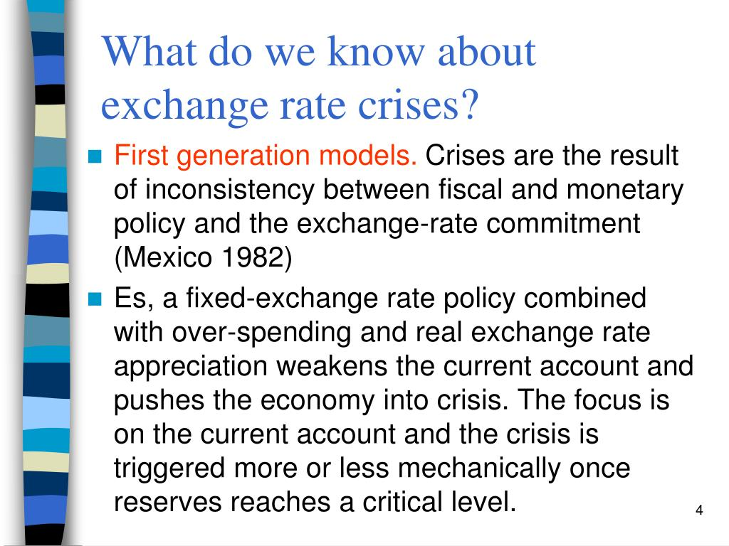 What do we know about exchange rate crises?