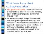 what do we know about exchange rate crises