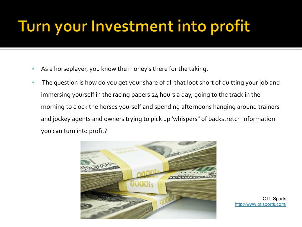 Turn your Investment into profit