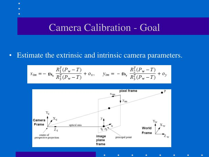 Camera calibration goal