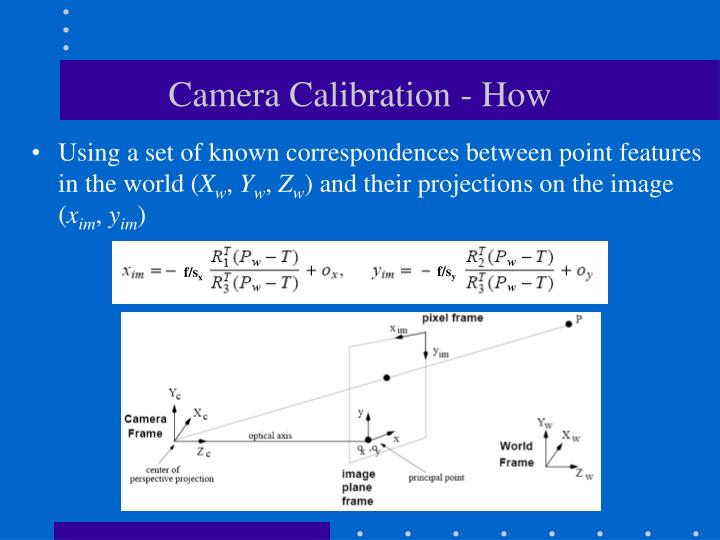 Camera calibration how
