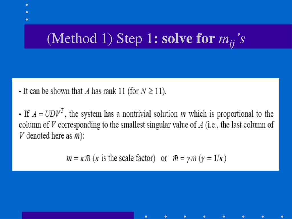 (Method 1) Step 1