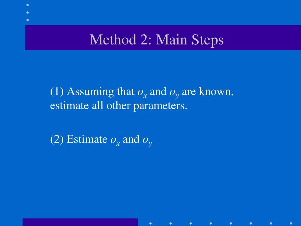 Method 2: Main Steps