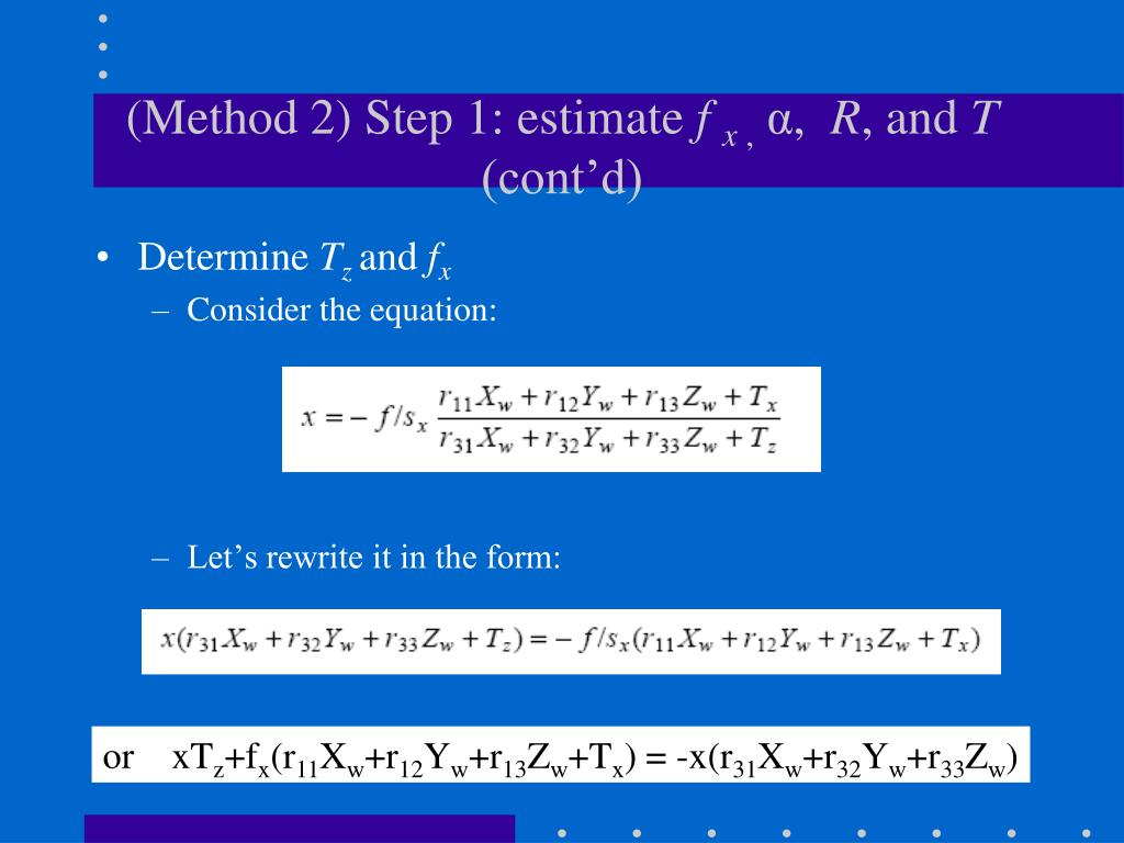 (Method 2) Step 1: estimate