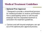 medical treatment guidelines29
