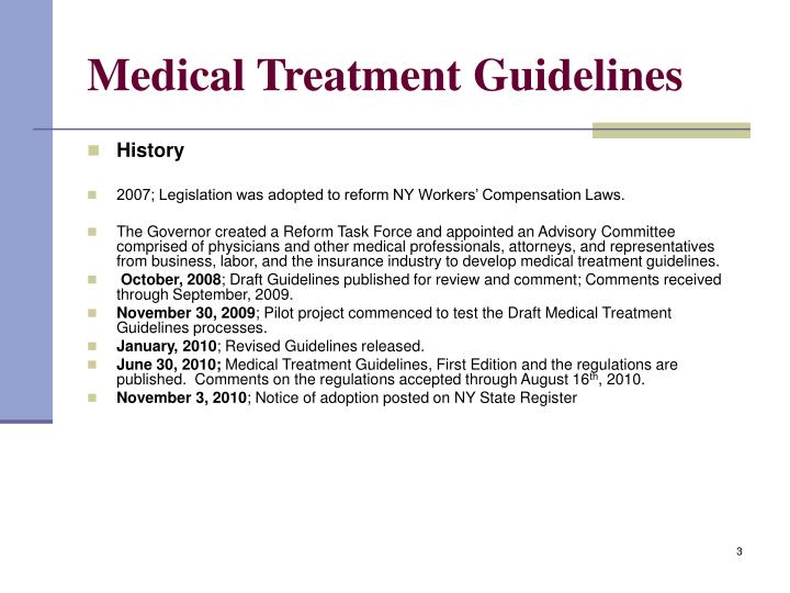 Medical treatment guidelines3