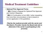 medical treatment guidelines30