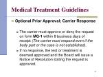 medical treatment guidelines31