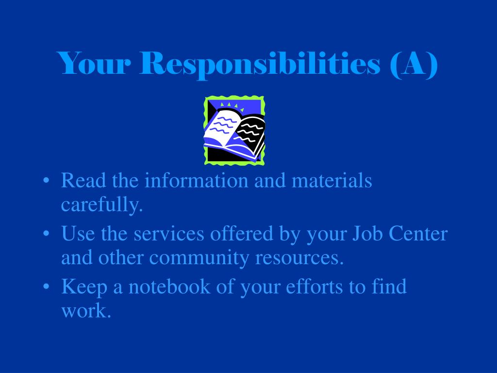 Your Responsibilities (A)