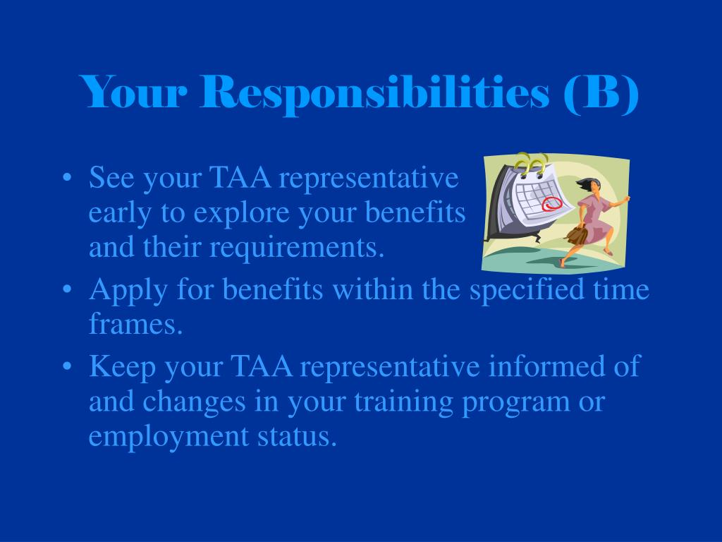 Your Responsibilities (B)