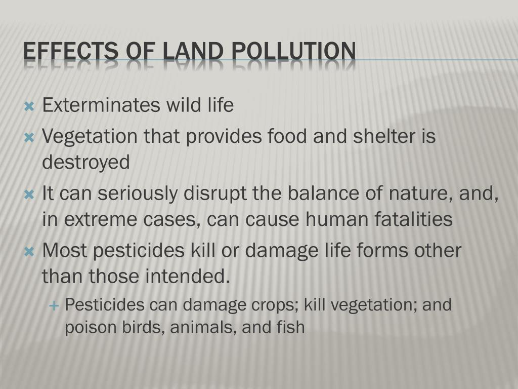 effects of land pollution