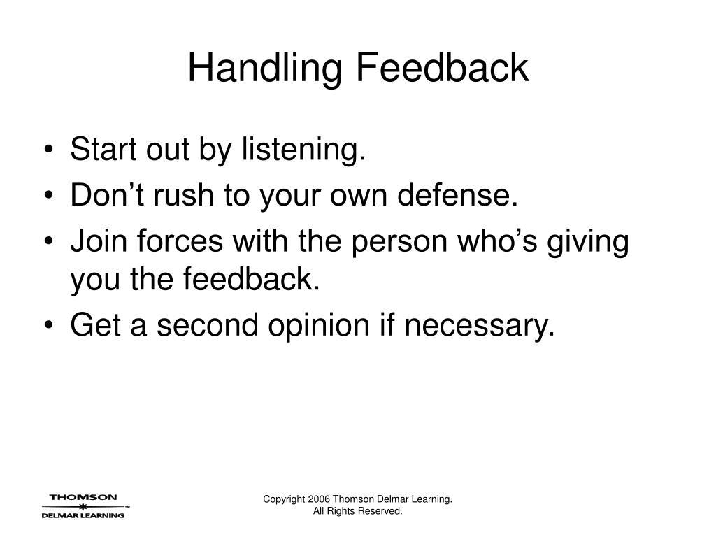 Handling Feedback