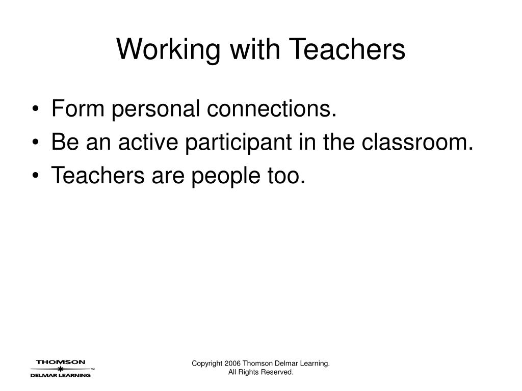 Working with Teachers