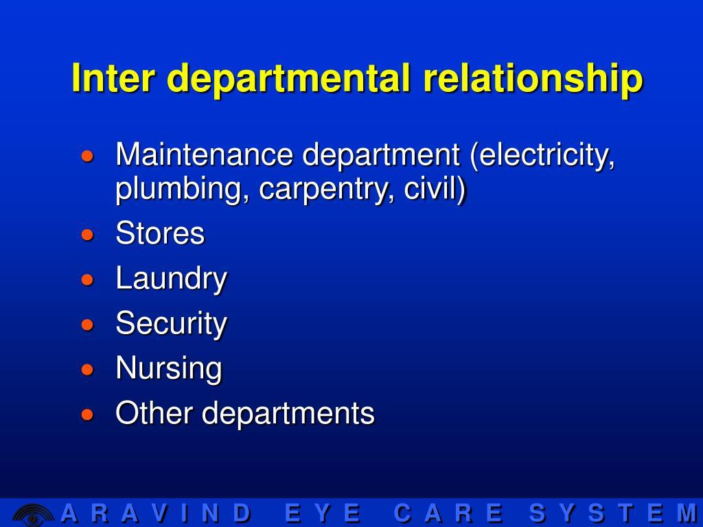 Inter departmental relationship