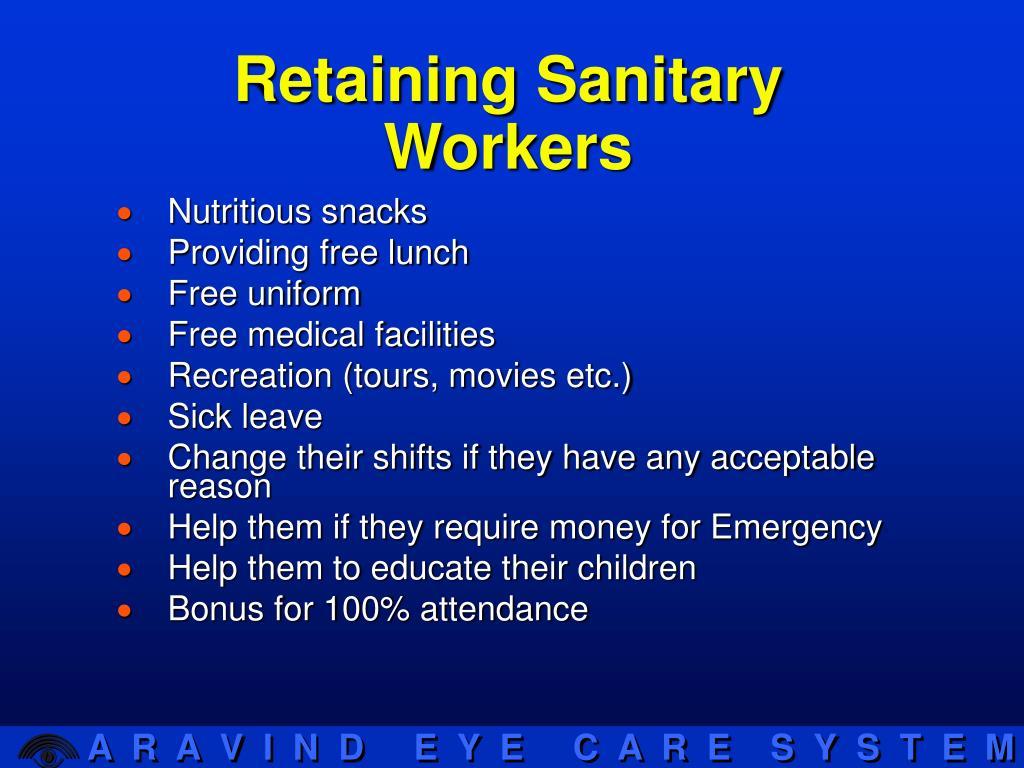 Retaining Sanitary Workers
