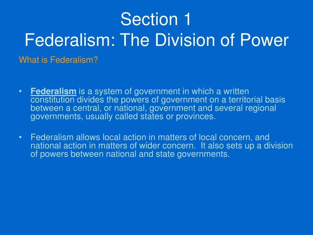 an argument on the powers of federal division Though the federal government has the power to decriminalize pot, the  one of  the arguments before the supreme court was that the.