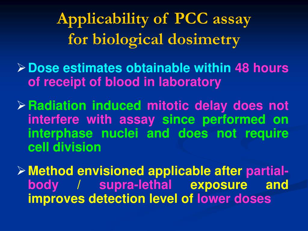 Applicability of PCC