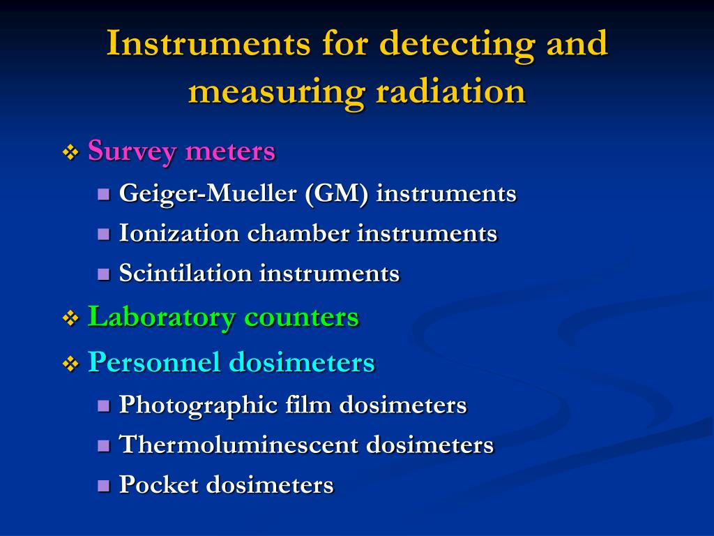 Instruments for