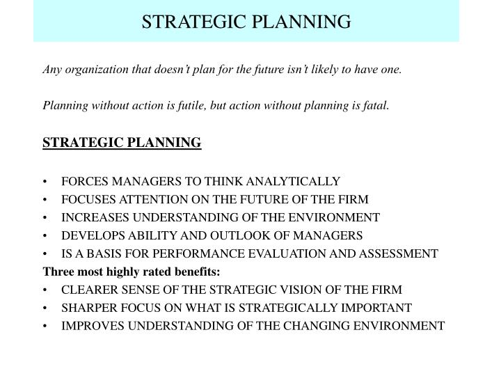 Strategic planning l.jpg