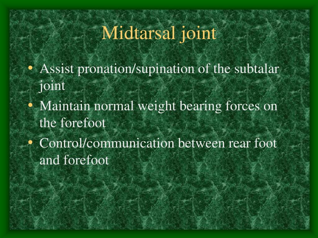 Midtarsal joint