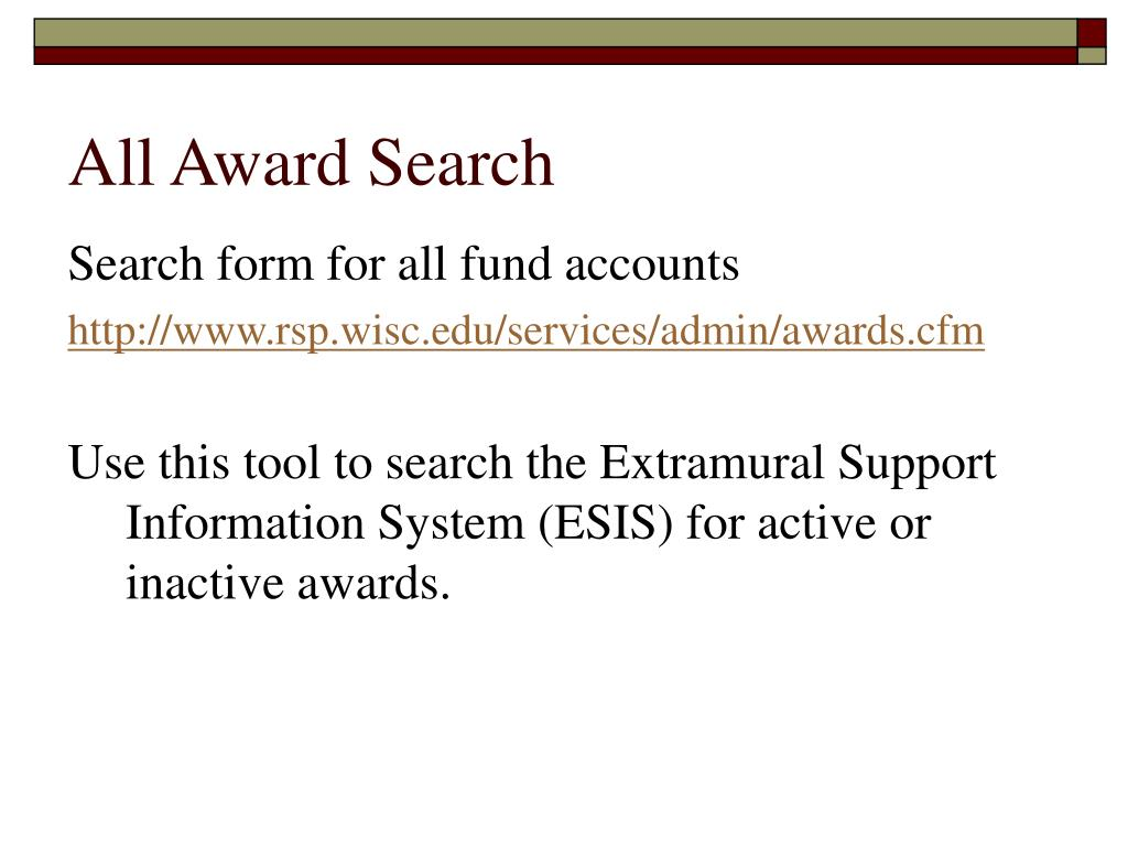 All Award Search