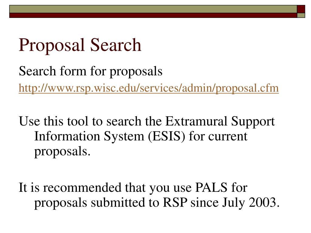 Proposal Search