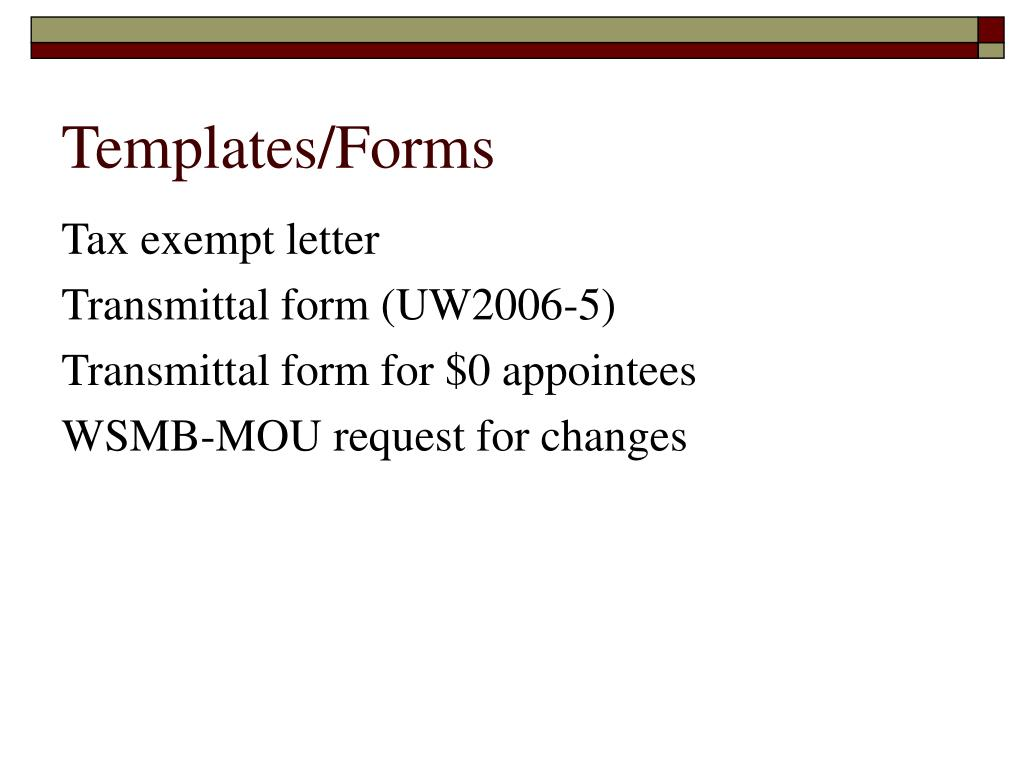 Templates/Forms