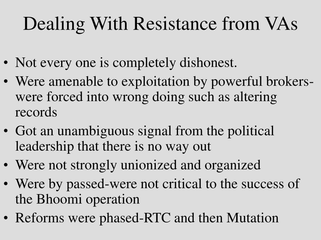 Dealing With Resistance from VAs