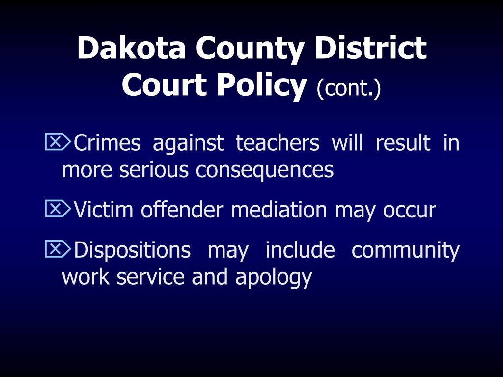 Dakota County District Court Policy