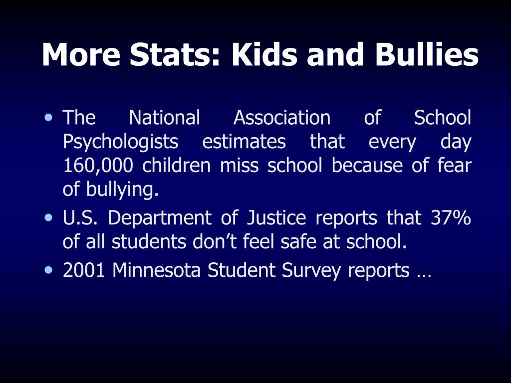 More Stats: Kids and Bullies