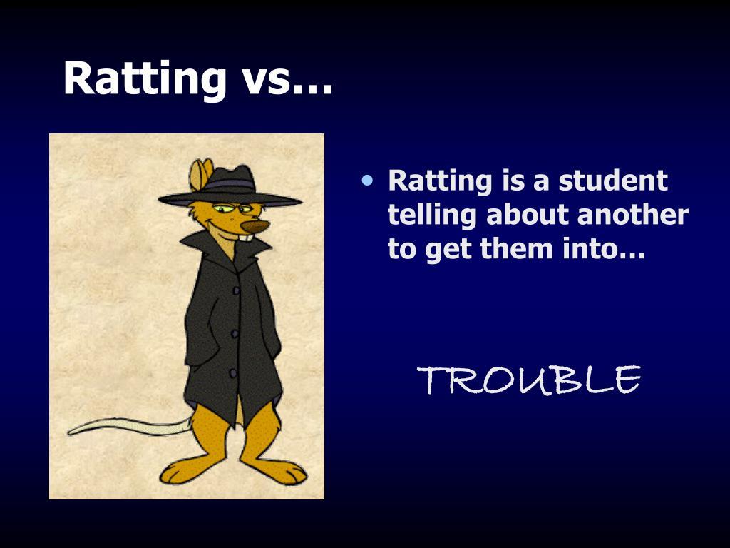 Ratting vs…