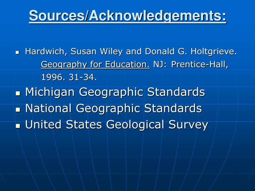 Sources/Acknowledgements: