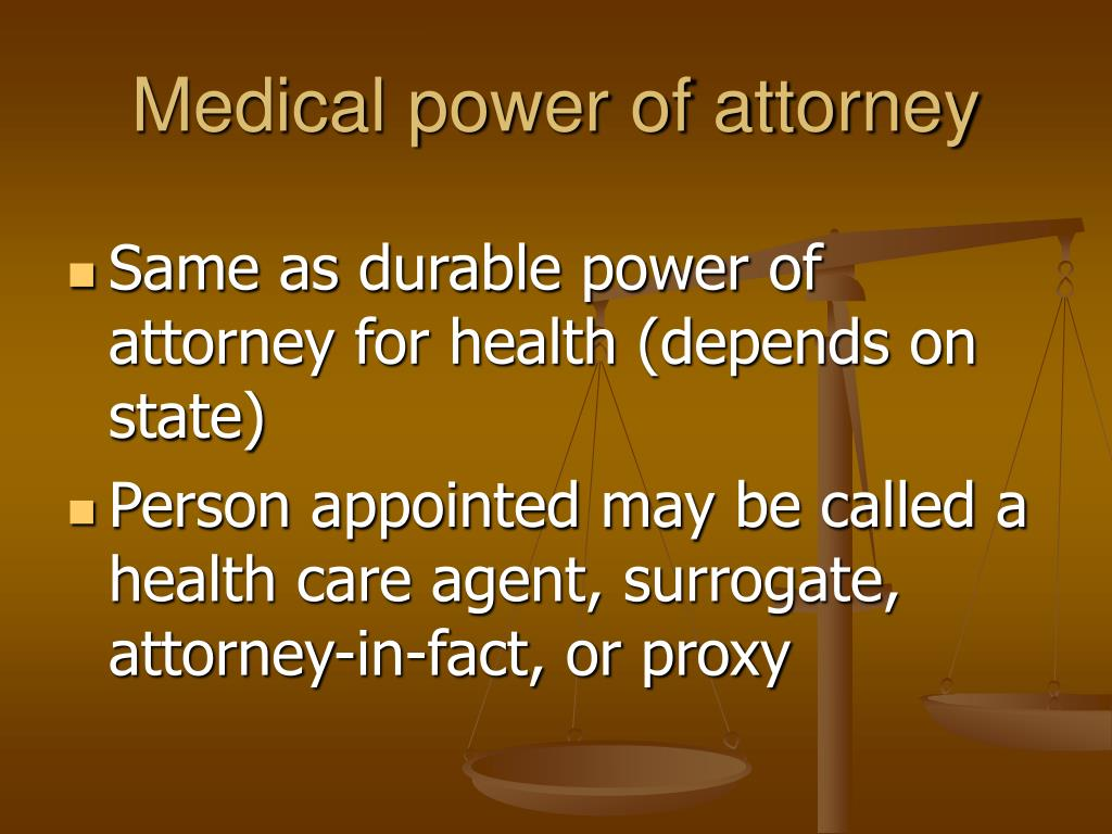 Attorney In Fact Proxy