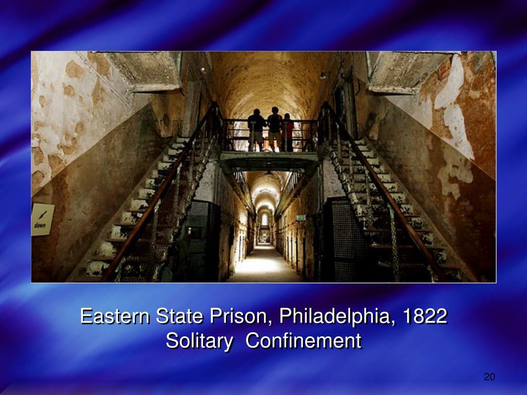 Eastern State Prison, Philadelphia, 1822
