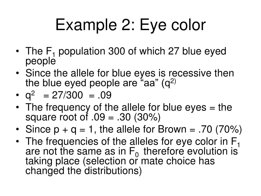 Example 2: Eye color